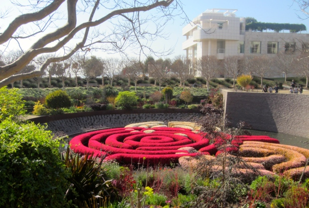 A view of The Getty Center from the gardens.