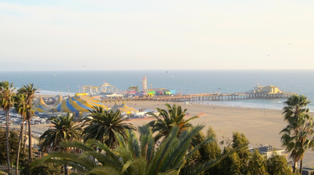 Nice view of the Pier and the Pacific Ocean.