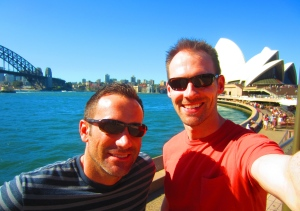 First day selfie down at Circular Quay.