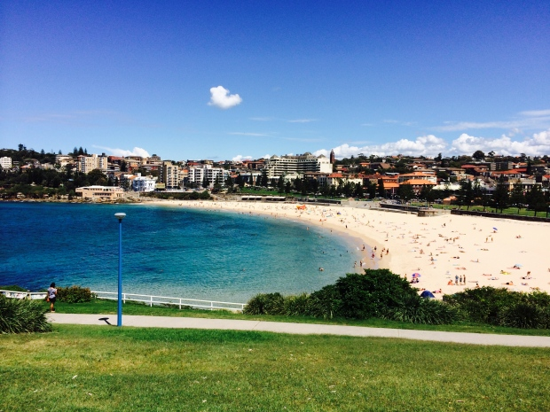 Coogee Beach...the water looks great. Even though it's officially fall, the water is plenty warm.