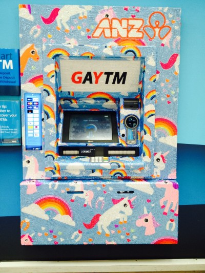 One of about a dozen GAYTMs around the city.