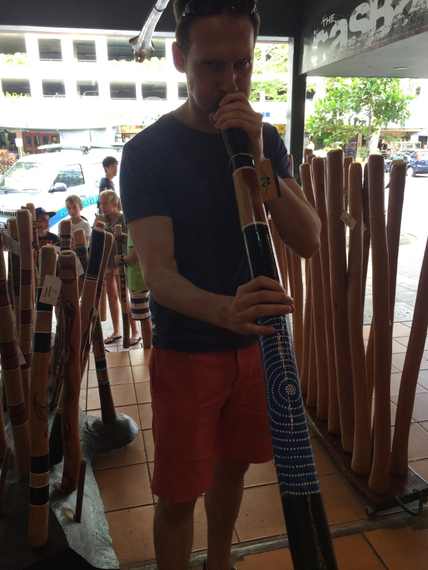 My first attempt at the didgeridoo. The sales guy said most people can learn how to play it well in 20 minutes.